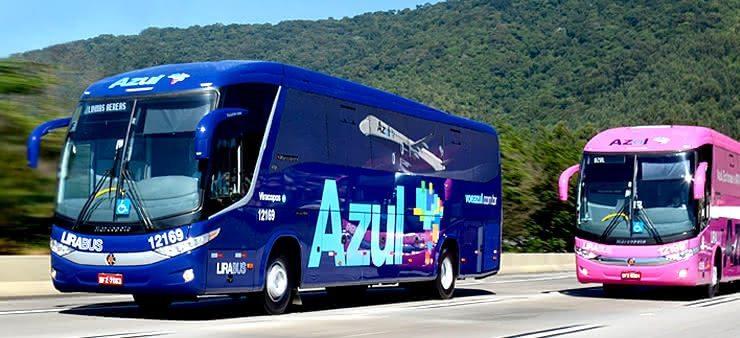 Ônibus Azul Rosa