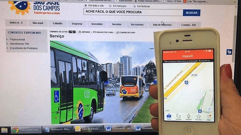 Itinerário de Ônibus SJC - Aquarius, Tesouro, Chacaras Reunida